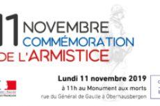 Cérémonie de commémoration de l'Armistice du 11 novembre